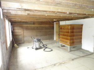 Wohnzimmer wird renoviert