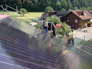 Installation-von-Solarstrom-Anlage