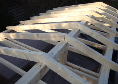 Neue Dachkonstruktion