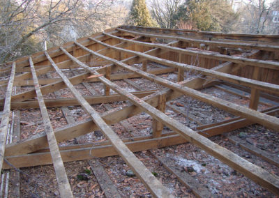 Alte Dachkonstruktion