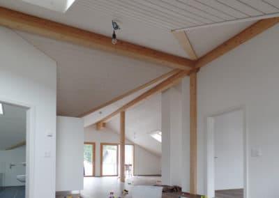Deckenlandschaft bei Dachwohnung in Balterswil
