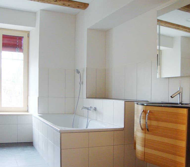 Einbau eines Badezimmers in Aadorf