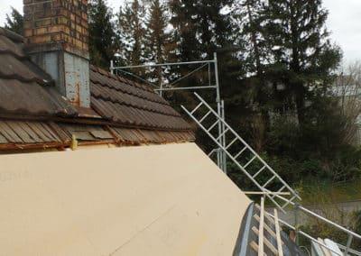 Dachdämmung Sanierung von aussen Giger Erlen
