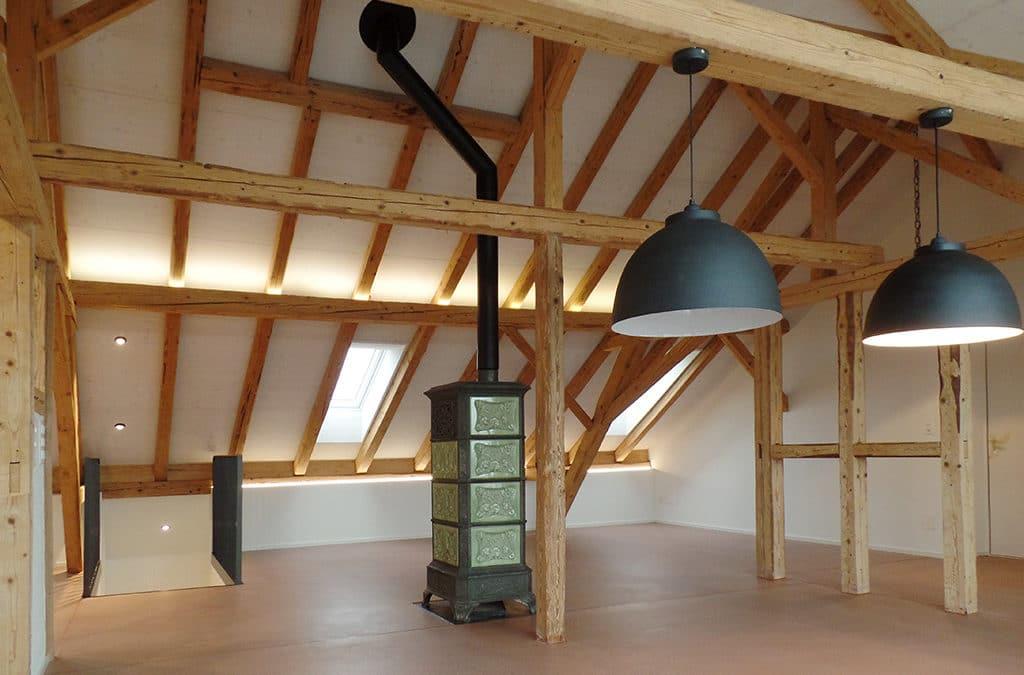 Alter Estrich wird zum exklusiven Wohnraum in Balterswil