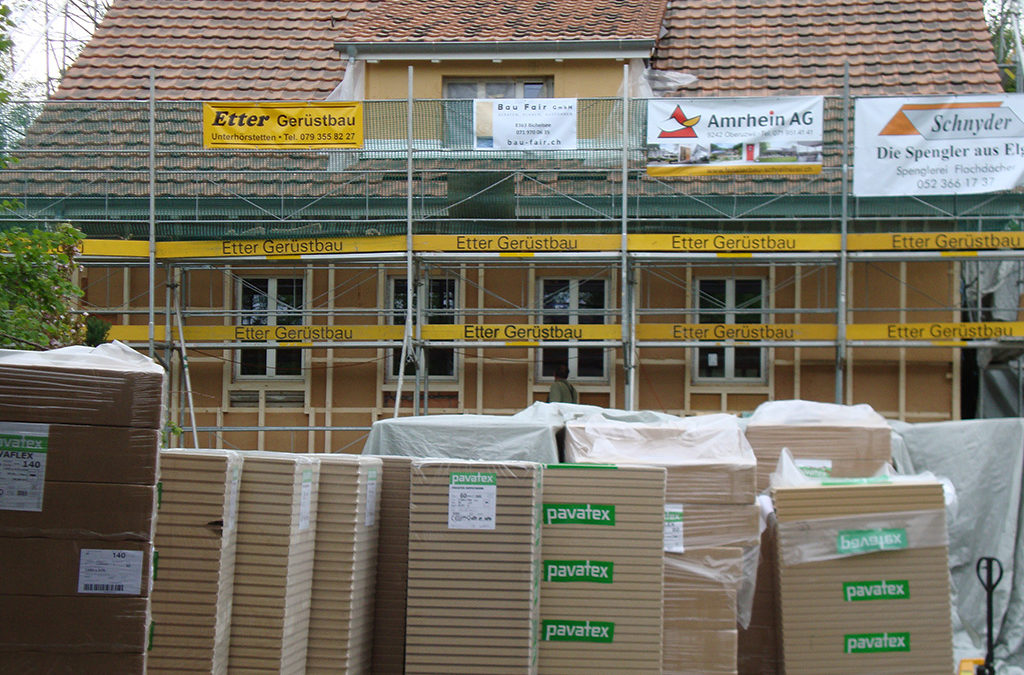 Verputzbare Fassadendämmung in Aadorf