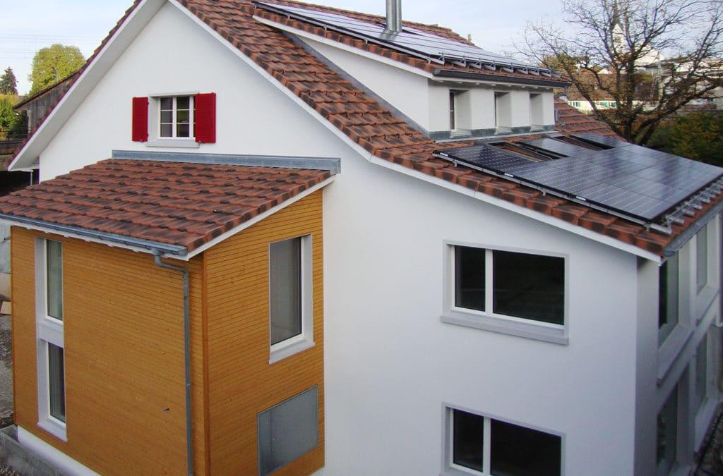 Romboid Fassadenschalung in Aadorf