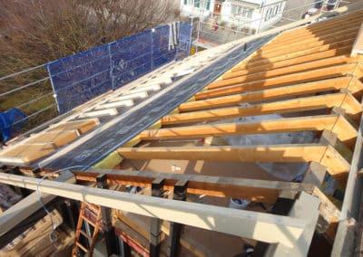 Aufbau des neuen Vordachbereiches
