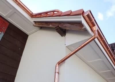 Gestemmte Dachuntersicht