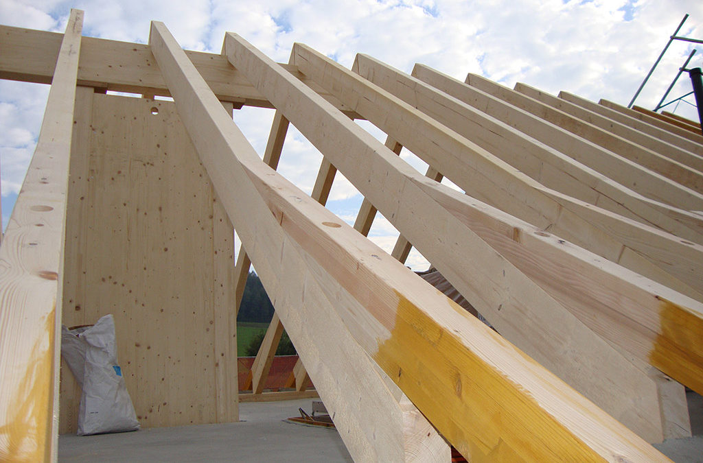 Neuer Dachstuhl bei EFH in Ettenhausen
