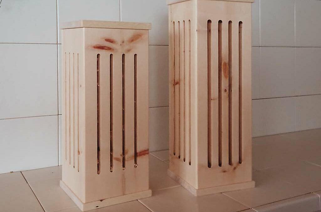 Duftsäulen aus Arvenholz