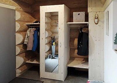 Massivholz Garderobe aus Weisstanne