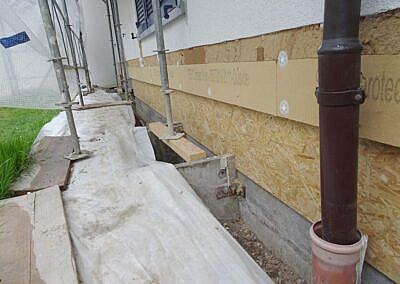 Feuchteschaden im Fassadenbereich